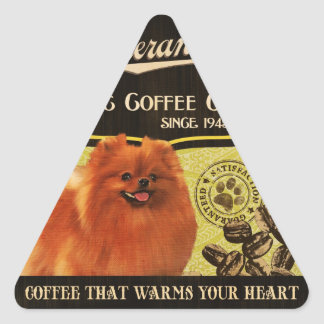 Pomeranian Brand – Organic Coffee Company Triangle Sticker