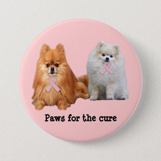 Pomeranian Breast Cancer Button