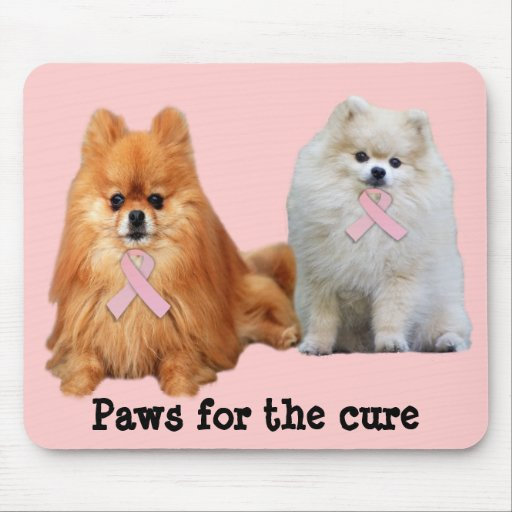 Pomeranian Breast Cancer Mousepad