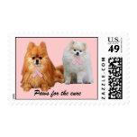 Pomeranian Breast Cancer Postage Stamp