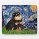 Pomeranian (BT) - noche estrellada Tapete De Raton