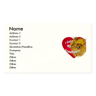 Pomeranian Double-Sided Standard Business Cards (Pack Of 100)