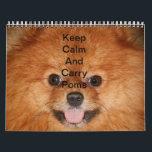 """Pomeranian Calendar<br><div class=""""desc"""">&quot;Keep Calm And Carry Poms&quot; Photo Calendar 2014</div>"""