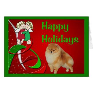 Pomeranian Christmas Card Angels