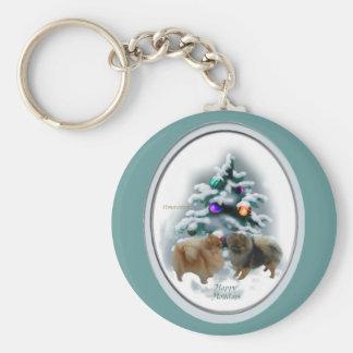 Pomeranian Christmas Gifts Keychains