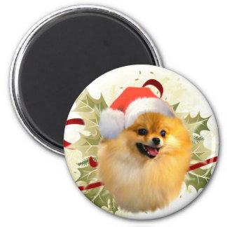 Pomeranian Christmas Magnet