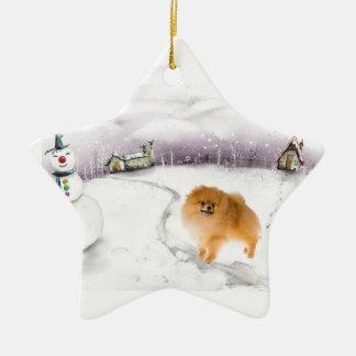 Pomeranian Christmas ornament