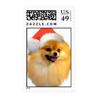 Pomeranian Christmas Stamps