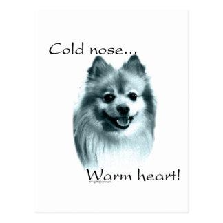 Pomeranian Cold Nose Warm Heart Postcard
