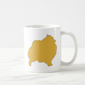 pomeranian color silhouette coffee mug