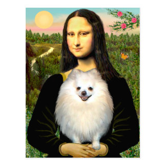 Pomeranian (cream) - Mona Lisa Postcard