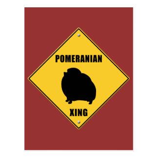 Pomeranian Crossing (XING) Sign Postcard
