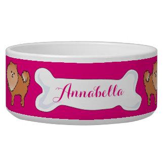 Pomeranian Customizable Name Dogfood Pet Bowl