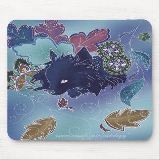 Pomeranian de medianoche Mousepad