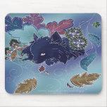 Pomeranian de medianoche Mousepad Alfombrilla De Raton