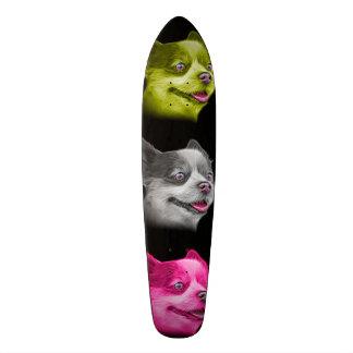 Pomeranian dog art 4584 - BB Skateboard