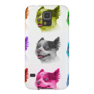 Pomeranian dog art 4584 -WhiteB Galaxy S5 Cover