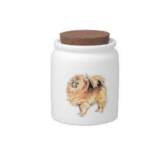 Pomeranian Dog Candy Jar