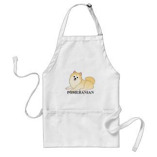 Pomeranian Dog Cartoon Adult Apron