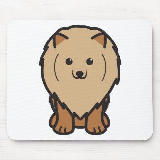 Pomeranian Dog Cartoon Mouse Pad