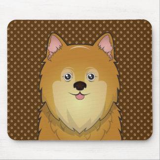 Pomeranian Dog Cartoon Paws Mouse Pad