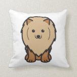 Pomeranian Dog Cartoon Pillows