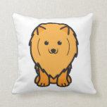 Pomeranian Dog Cartoon Throw Pillow