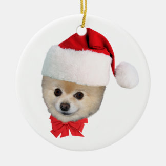 Pomeranian Dog Christmas Ornament