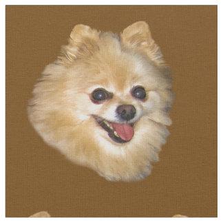 Pomeranian Dog Customizable Fabric