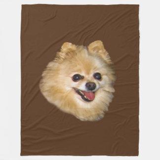 Pomeranian Dog Customizable Fleece Blanket