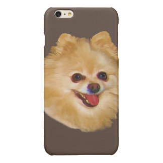 Pomeranian Dog Customizable Glossy iPhone 6 Plus Case