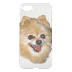 Uncommon iPhone 7 Clearly™ Deflector Case with Pomeranian Phone Cases design