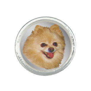 Pomeranian Dog Customizable Ring