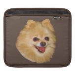 Pomeranian Dog Customizable Sleeves For iPads