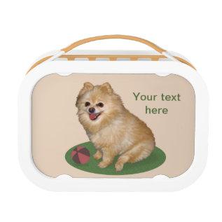 Pomeranian Dog Customizable Text Lunch Box at Zazzle