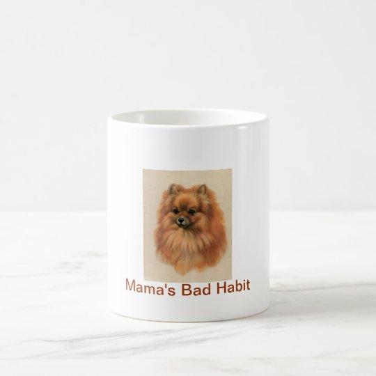 Pomeranian Dog Mama's Bad Habit Coffee Cup