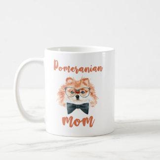 Pomeranian Dog Mom Gift Watercolor Design Coffee Mug
