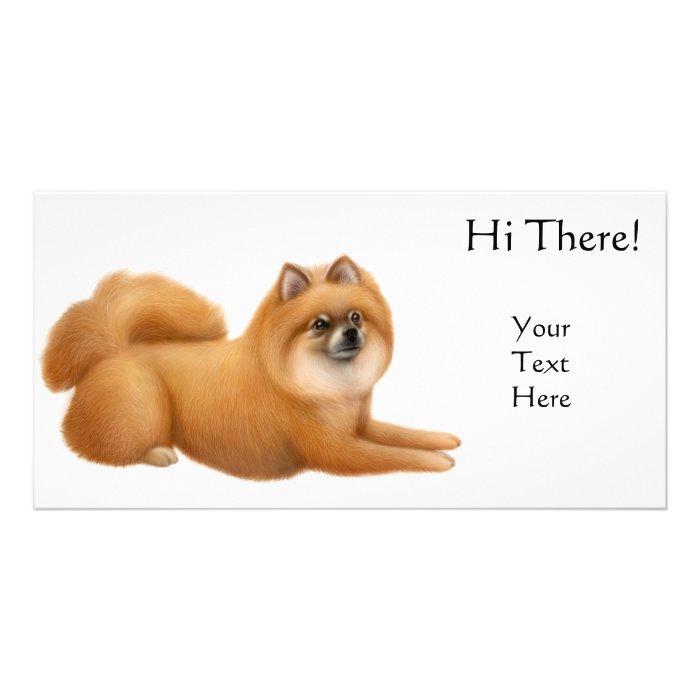 Pomeranian Dog Photo Card