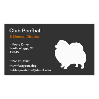 Pomeranian Dog Silhouette Double-Sided Standard Business Cards (Pack Of 100)