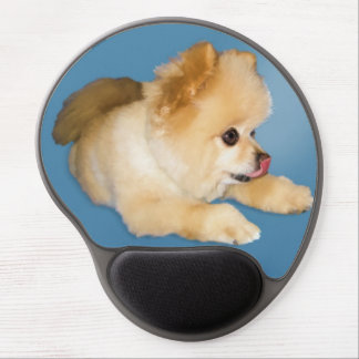 Pomeranian Dog Sticking Tongue Out Gel Mouse Pad