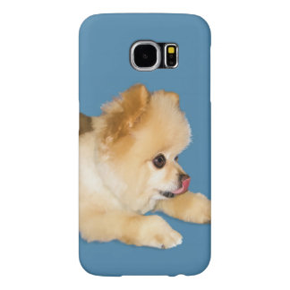 Pomeranian Dog Sticking Tongue Out Samsung Galaxy S6 Case