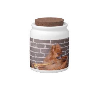 Pomeranian Dog Treat Candy Jar