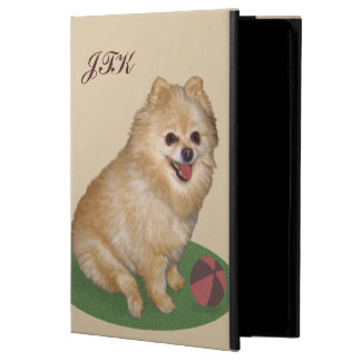 Pomeranian Dog with Ball Customizable Monogram Powis iPad Air 2 Case