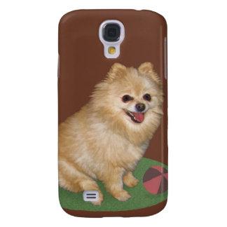 Pomeranian Dog with Ball Customizable Samsung Galaxy S4 Case