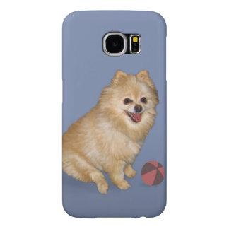 Pomeranian Dog with Ball Samsung Galaxy S6 Case