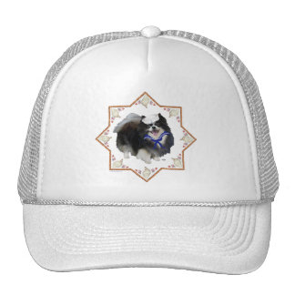 Pomeranian Dog with Seashells Trucker Hat