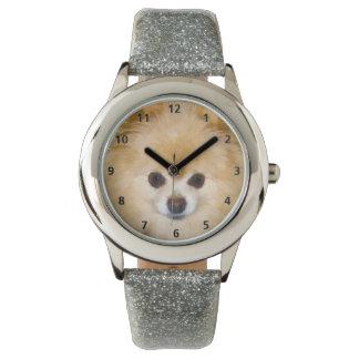 Pomeranian Dog Wrist Watch
