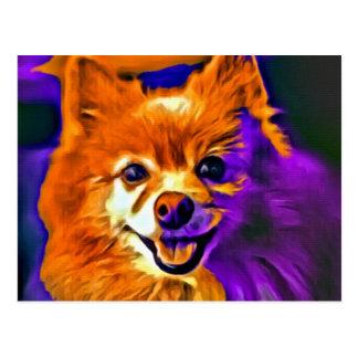 Pomeranian feliz #3 tarjetas postales