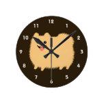 Pomeranian feliz - perro mullido lindo relojes