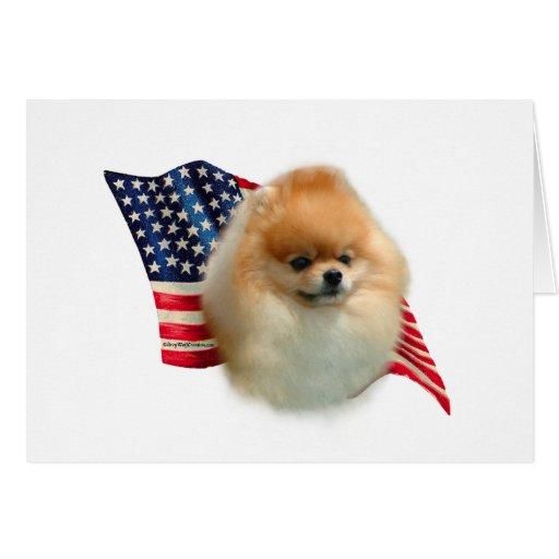 Pomeranian Flag Cards